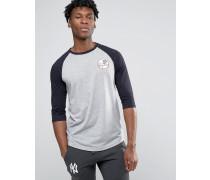 Yankees Raglan-T-Shirt mit 3/4-Ärmeln Grau