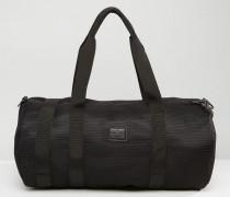 Sporttasche aus schwarzem Netzstoff Schwarz