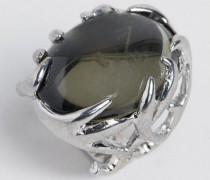 Mit Silber beschichteter Ring mit Geweih-Design Silber
