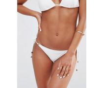 Heidi Klum Swim Weiße String-Bikinihose Weiß