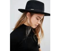 Fedora-Hut mit kleiner Schleife Schwarz