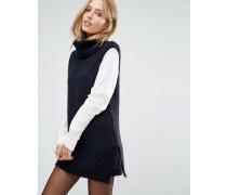 2-in-1-Tabbard-Pullover Marineblau