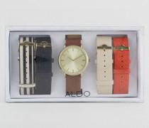 Charnas Uhr mit mehreren Riemen Mehrfarbig
