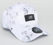 Weiße Baseball-Kappe mit Marmormuster Weiß
