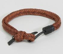 Geflochtenes Armband in Braun Braun