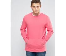 Rosa Sweatshirt mit seitlichen Reißverschlüssen Rosa