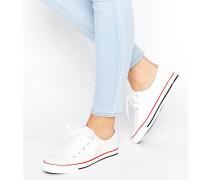Schlichte Sneaker mit Schnürung Weiß