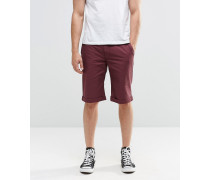 Brooklyn Supply Co Enge Chino-Shorts in Weinrot Rot