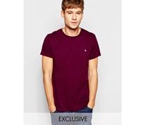 Exklusives T-Shirt mit Fasanenlogo in Violett Violett