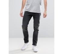 Schmal geschnittene Stretch-Jeans Grau