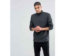 SOLID Jersey-Sweatshirt mit Stehkragen Grau