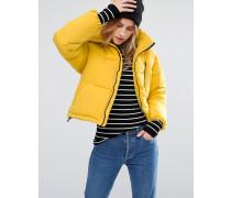 Wattierte, kastenförmige Jacke Gelb