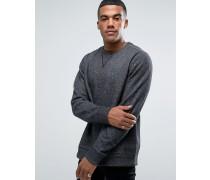 Schwarzes Sweatshirt im College-Stil mit Rundhalsausschnitt, 1285085-002 Schwarz