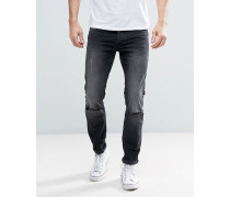 Sehr Eng geschnittene Jeans Grau