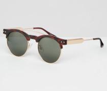 Retro-Sonnenbrille Braun