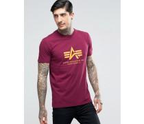 T-Shirt mit Logo in Burgunderrot, reguläre Passform Rot