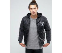 Raiders Satinjacke mit Kapuze Marineblau