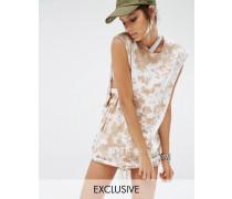 Jaded X Granted Tank-Kleid mit Tunnelzug in Acid-Waschung Mehrfarbig