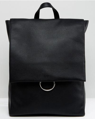 ASOS Damen Rucksack mit Umschlag und Ringverschluss