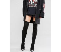 KAILA Spitze Overknee-Stiefel mit Absatz Schwarz