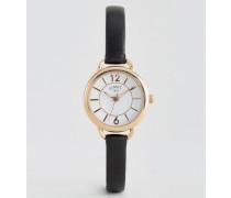 Schwarze Leder-Armbanduhr 6214.37 (61 Schwarz
