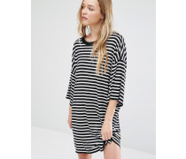 Überdimensioniertes T-Shirt-Kleid Mehrfarbig