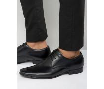 Rayon Derby-Schuhe aus Leder Schwarz