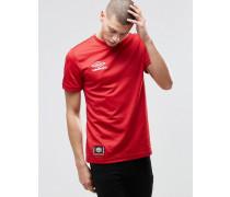 T-Shirt mit kleinem Logo Rot