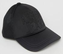 Schwarze Baseball-Kappe aus Neopren Schwarz