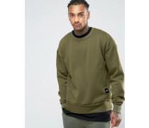 Oversized-Pullover Grün