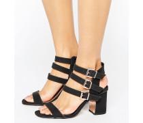 Sandalen mit Schnallen-Detail Schwarz