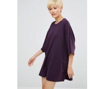 Überdimensioniertes T-Shirt-Kleid Violett