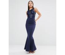 Michelle Keegan Loves Maxikleid mit paillettenverziertem Oberteil Marineblau