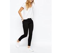 Fernham Superenge Jeans mit mittelhohem Bund Schwarz