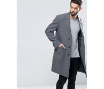 Mantel aus Wollmischung in hellem Kalkgrau Grau