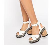TAKE IT ON Sandalen mit klobigem Absatz Gebrochenes Weiß