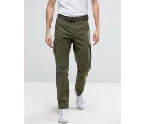 Cargo Trousers With Belt Grün