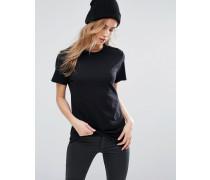 Weiches Boyfriend T-Shirt Schwarz