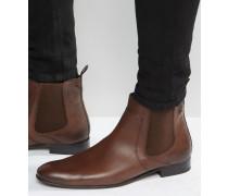Forbes Chelsea-Stiefel aus Leder Bronze