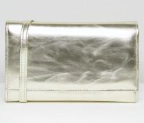 Clutch mit Umschlag Silber