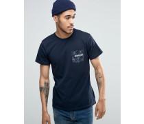 T-Shirt mit Paisley-Tasche Marineblau