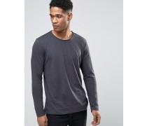 Langärmeliges Shirt mit Noppenstruktur Grau