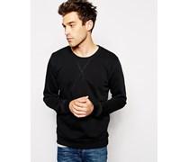 Backbone Sweatshirt mit Rundhalsausschnitt Schwarz