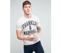 Franklin and Marshall T-Shirt mit Logo Grau