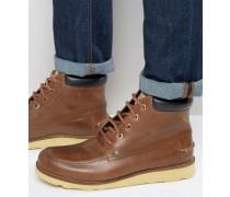 Stiefel aus hellbraunem Leder Bronze