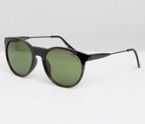 Sonnenbrille mit D-förmigem Gestell Braun