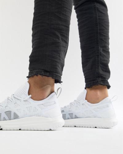 Ralph Lauren Herren Performance Train 200 - Sneaker aus elastischem Netzstoff in Weiß/Grau