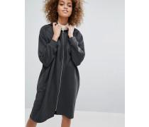Oversize-Sweatkleid mit Kapuze Grau