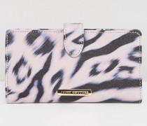 Geldbörse mit Leopardendesign Violett