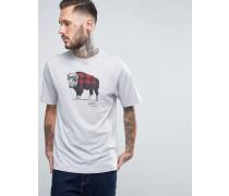 The Buffalo Kariertes T-Shirt Grau